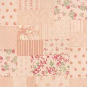 Moda Whitewashed Cottage by 3 Sisters - 3728 - Pink Collage - 44060 12 - Cotton Fabric